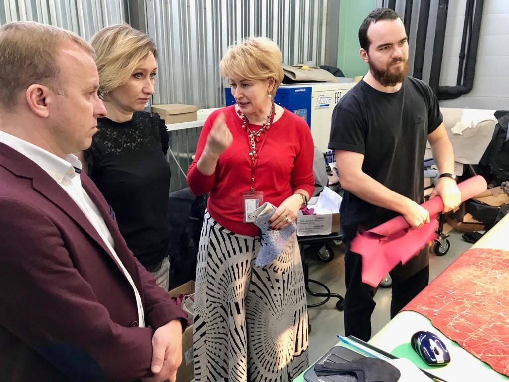 Делегация группы компаний Русская кожа посетили цифровую фабрику Ортомода