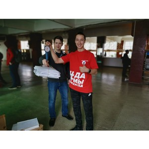 В рамках акции #СохранимЛес воронежская команда «Молодежки ОНФ» собрала почти тонну макулатуры