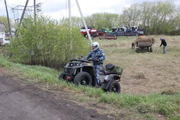 В Кузбассе осужденных начали контролировать с помощью квадроциклов