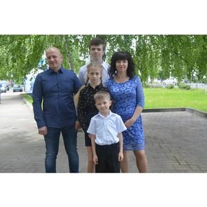 Почетным знаком «Материнская слава» награждена работница Стойленского ГОКа