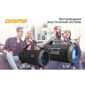 Беспроводная акустика Digma S-35 и S-37: пой свою музыку!