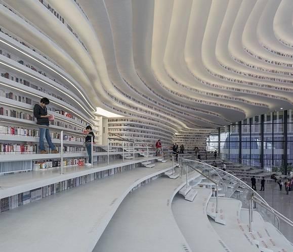 Футуристическая библиотека в Китае от  MVRDV
