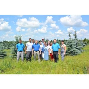 Сотрудники Воронежского филиала «Евроцемент груп» побывали в питомнике растений