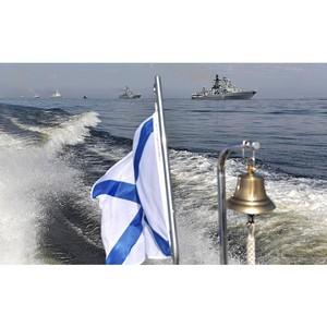 В День ВМФ Верховный Главнокомандующий принял парад