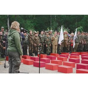 Елена Цунаева приняла участие в церемонии захоронения солдат, найденных поисковой экспедицией «Западный фронт-5»