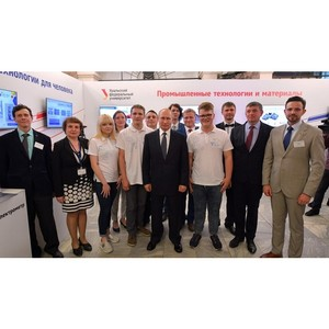 Владимир Путин познакомился со стартапами вуза