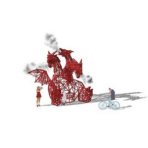 Змей Горыныч и дневная программа на Международном фестивале фейерверков «Ростех»
