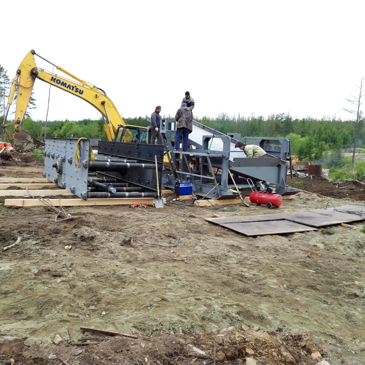 Сборка нового промывочно-сортировочного комплекса