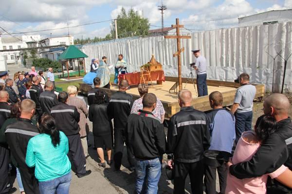В Кемеровской ИК-29 состоялось освящение строительства православного храма