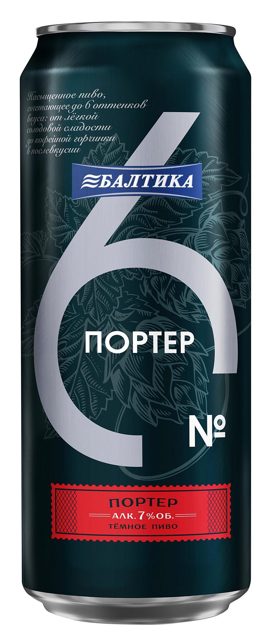 «Балтика 4» и «Балтика 6» впервые выпущены в банке