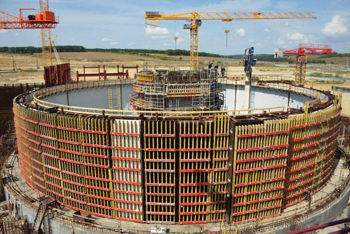 Бетонирование защитной оболочки здания энергоблока №1 Курской АЭС-2