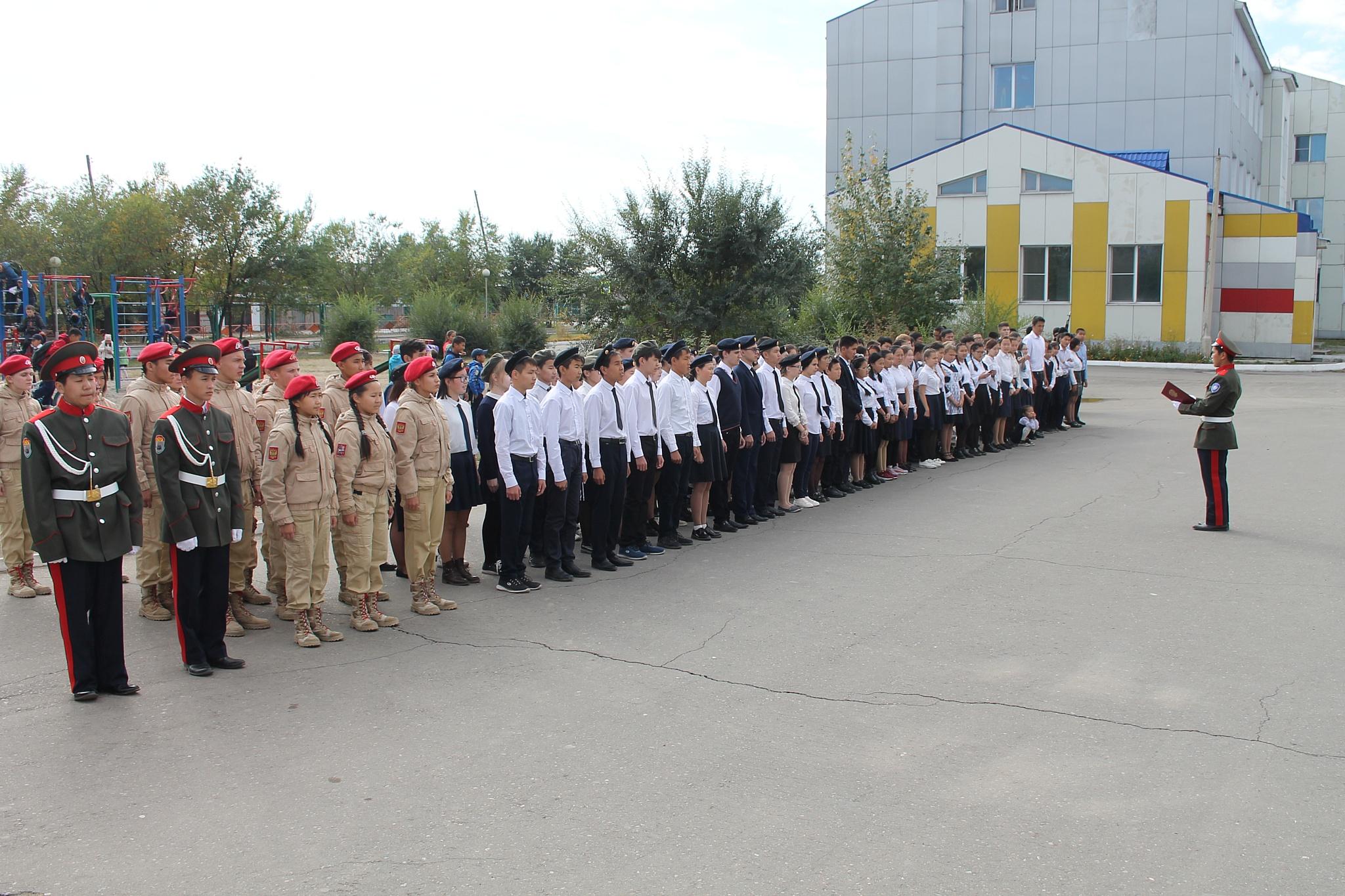 Офицеры Росгвардии Тувы приняли участие в открытии патриотического клуба