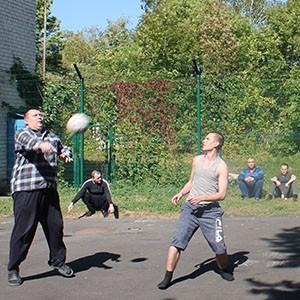 В Ставропольской психбольнице провели волейбольный матч