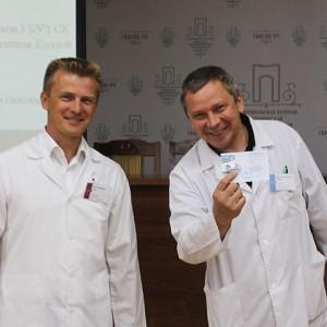 Специалистам Ставропольской психбольницы торжественно вручили значки ГТО