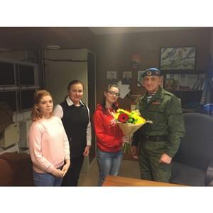 «Молодежка ОНФ» в Коми посетила ветерана спецназа и разведки ВС РФ