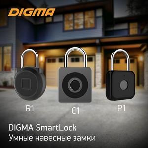 Умные навесные замки со сканерами отпечатков пальцев от Digma