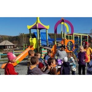 Детские и спортивные площадки установлены в Таштагольском районе Кузбасса