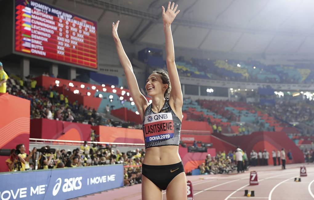 Первая в истории трехкратная чемпионка мира в прыжках в высоту