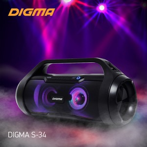 Беспроводная акустическая система Digma S-34: музыку на максимум