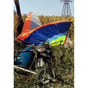 Дельтапланерист во время полёта повредил провода высоковольтной линии