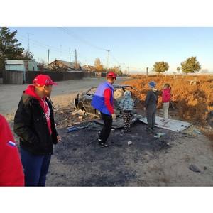 «Молодежка ОНФ» в Туве вывезла с детской площадки целую машину мусора