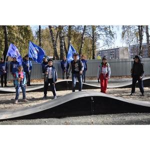 В рабочем посёлке Горный открыли спортивную площадку памп-трек