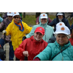 Молодежка ОНФ участвовала в подготовке фестиваля скандинавской ходьбы