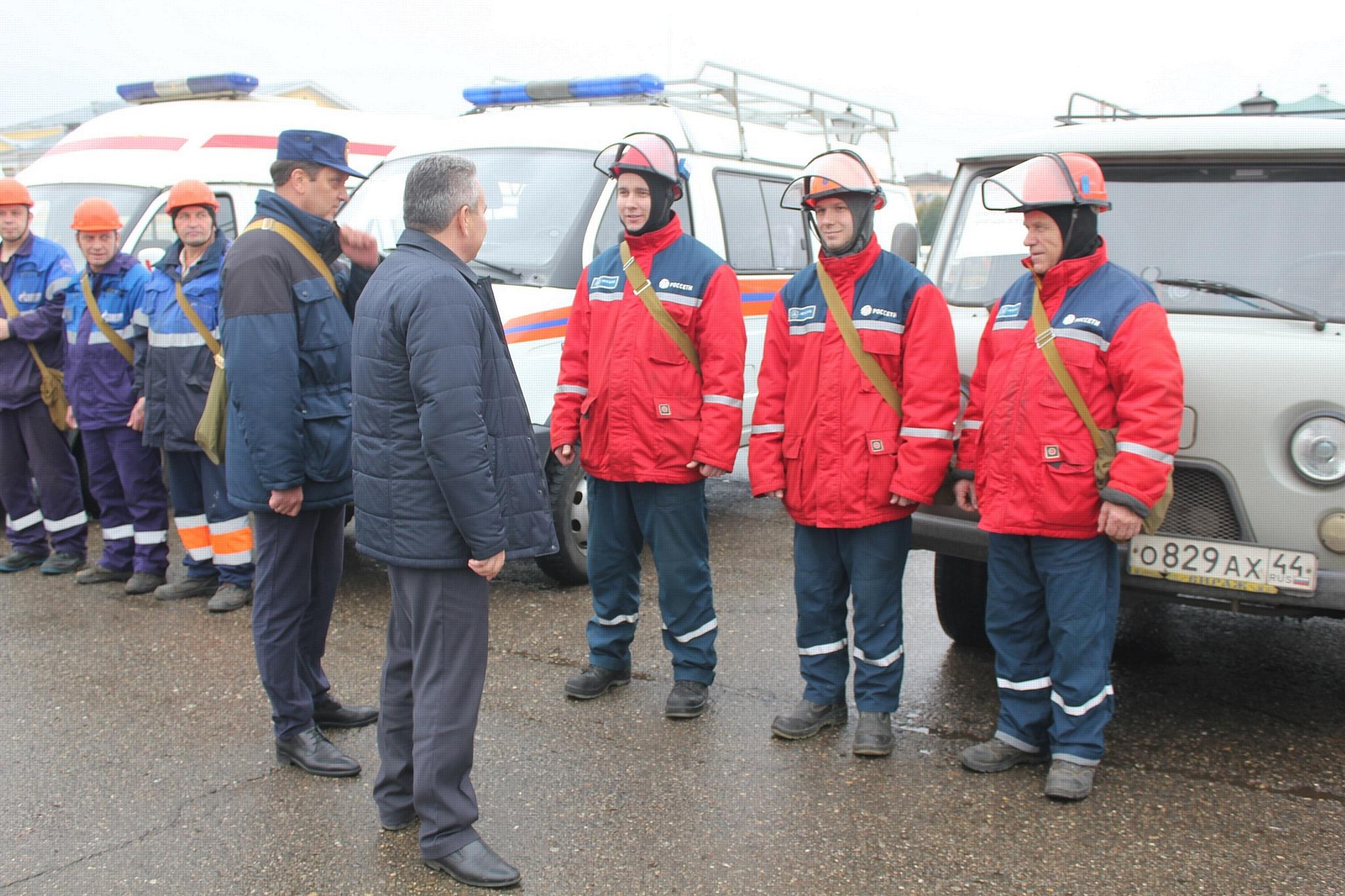 Работники Костромаэнерго готовы к оперативному реагированию