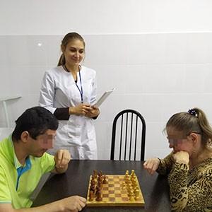 Турнир по шахматам и нардам в Ставропольской психиатрической больнице