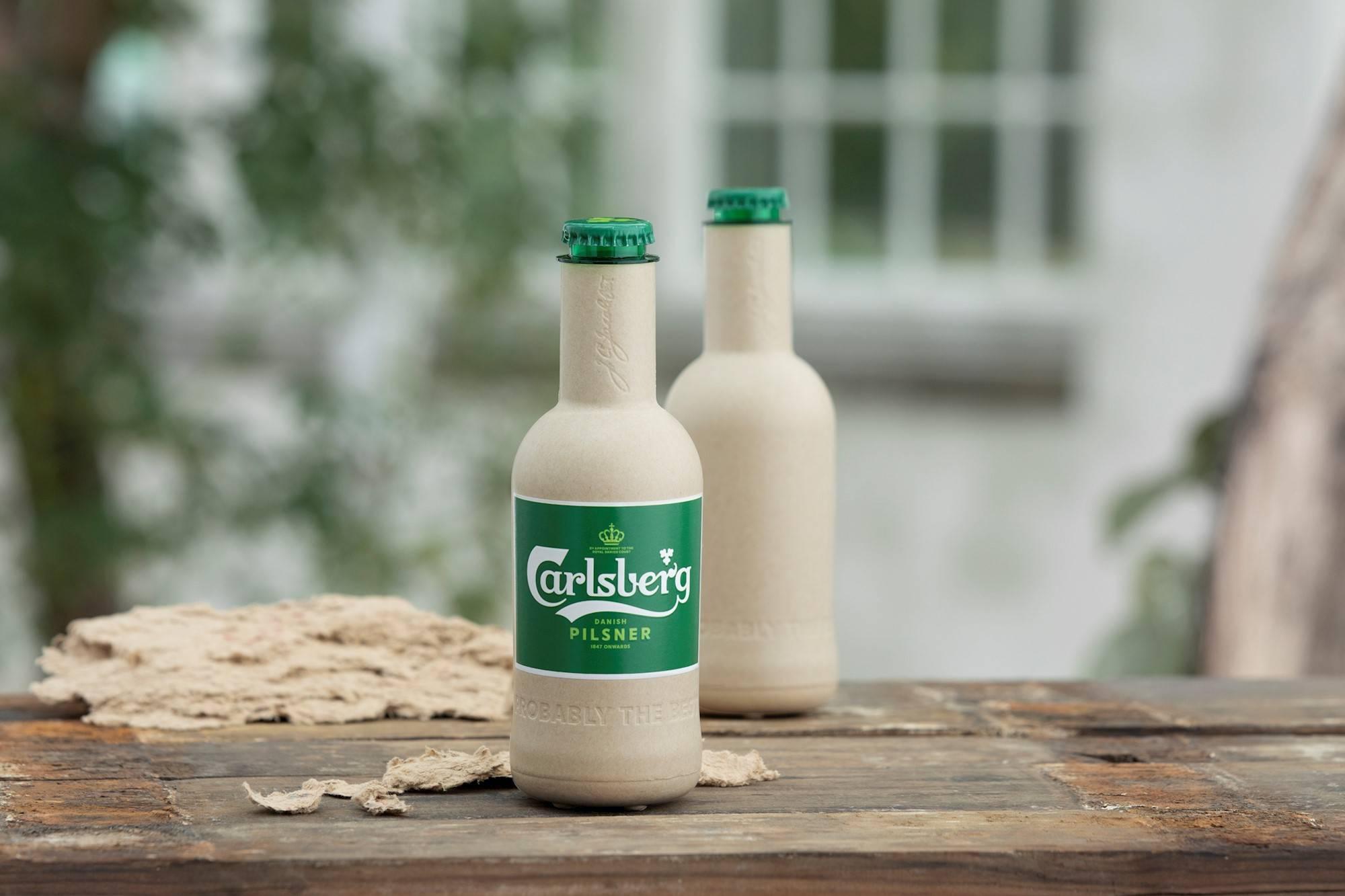 Carlsberg представила экспериментальные образцы бутылок из эковолокна