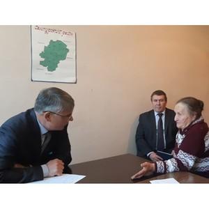 Управляющий ОПФР по Тамбовской области провел прием граждан в Сампуре