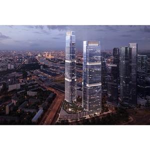 Построен один из двух небоскребов МФК Neva Towers в «Москва-Сити»