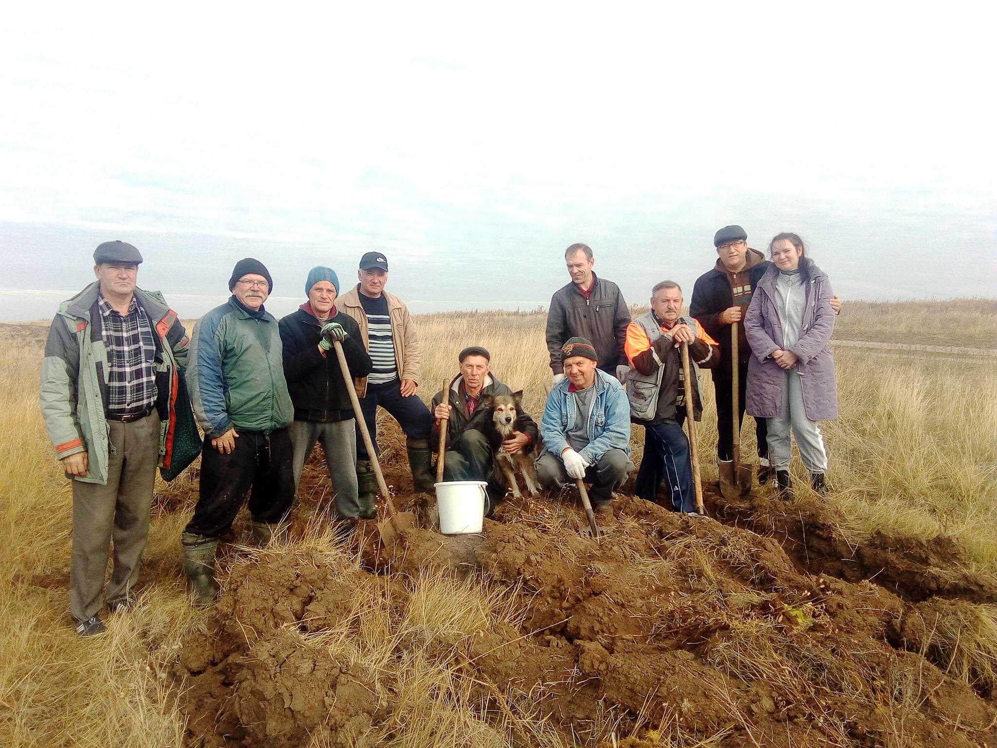 В посёлке Степное Саратовской области посажена дубовая роща