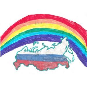 Дети сотрудников челябинского Росреестра нарисовали карту России