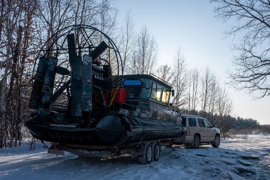 Компания Логопром направила в Воскресенский район скоростное судно