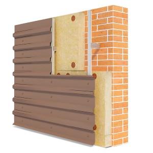 Фасадные системы с облицовкой профилированным листом «Фасст-ПЛ»