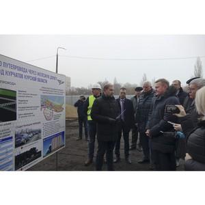 В городе-спутнике Курской АЭС начато строительство путепровода