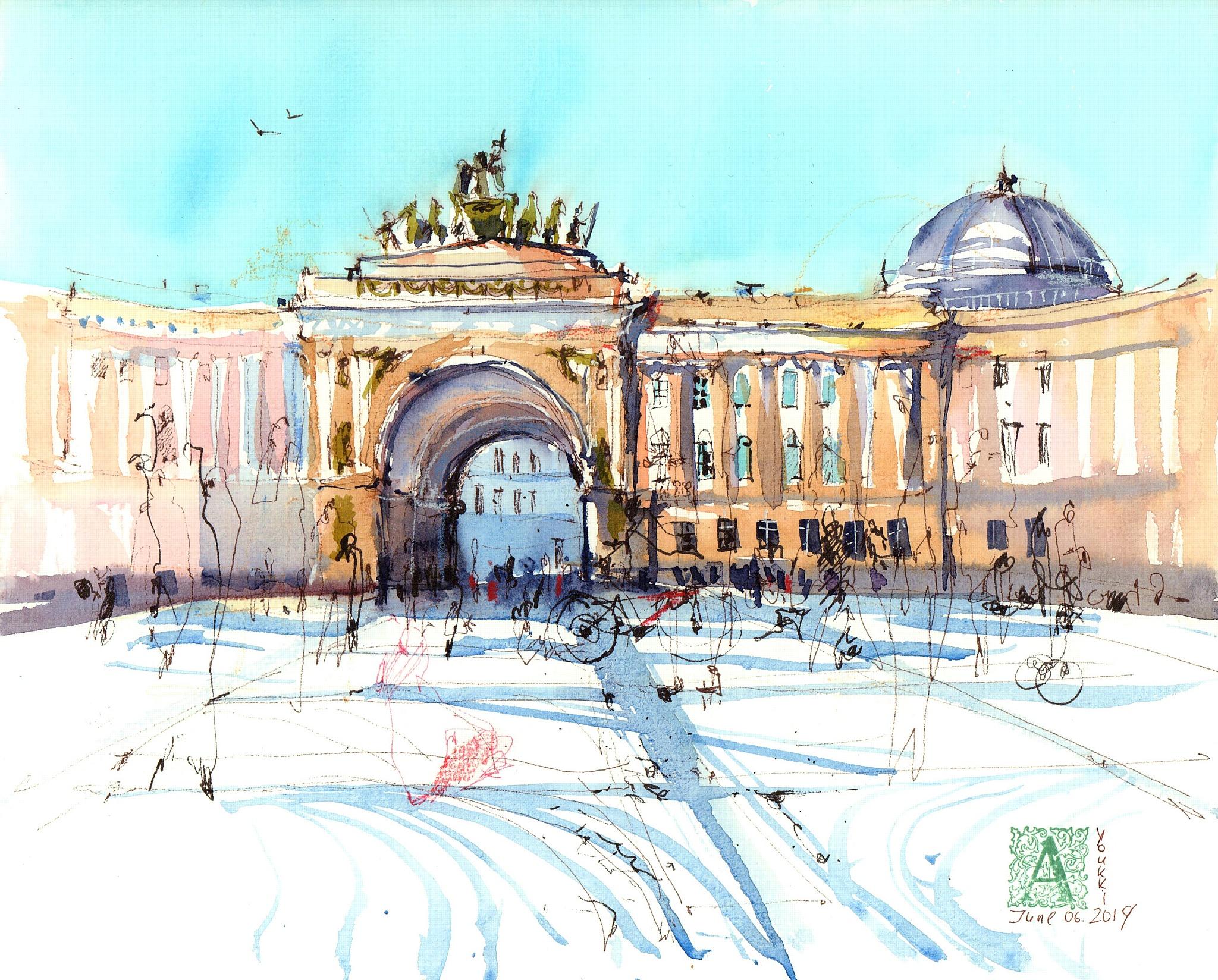 Выставка городской акварельной графики в Едином центре документов СПб