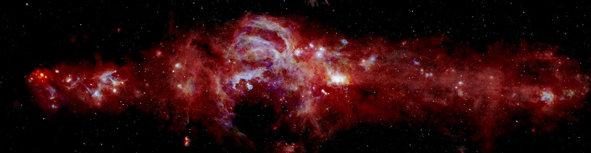 Впервые получено полное изображение центра нашей галактики