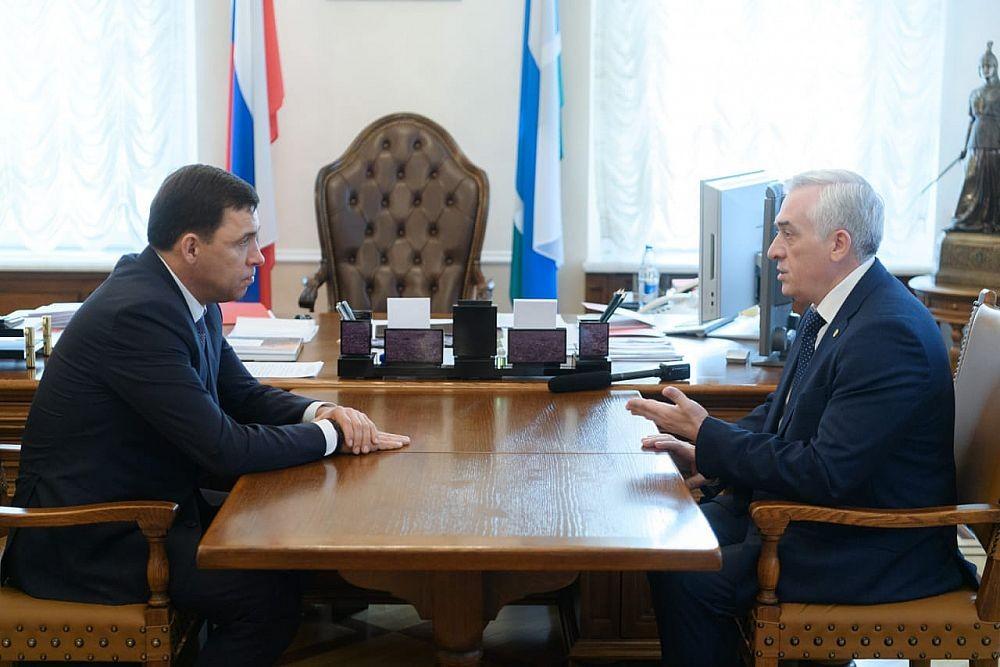 Яков Силин представил губернатору Свердловской области проекты вуза
