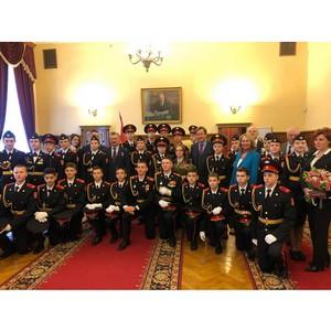В.И. Узун принял участии в церемонии посвящения в кадеты