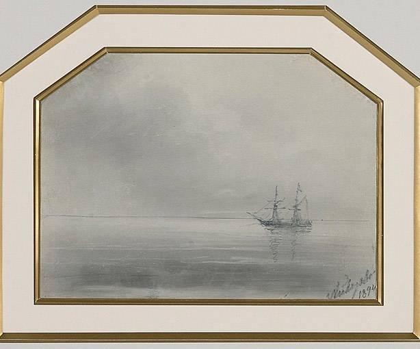 Лот №6. Иван Айвазовский, Корабль в море, 1894 г.