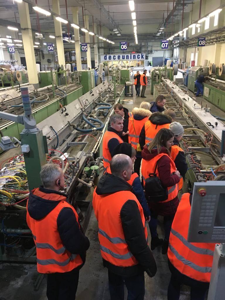 Сотрудники компании «Атомпрофи+» посетили завод концерна Deceuninck