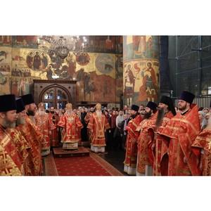 Руководители «Союз Маринс Групп» на литургии в Успенском соборе