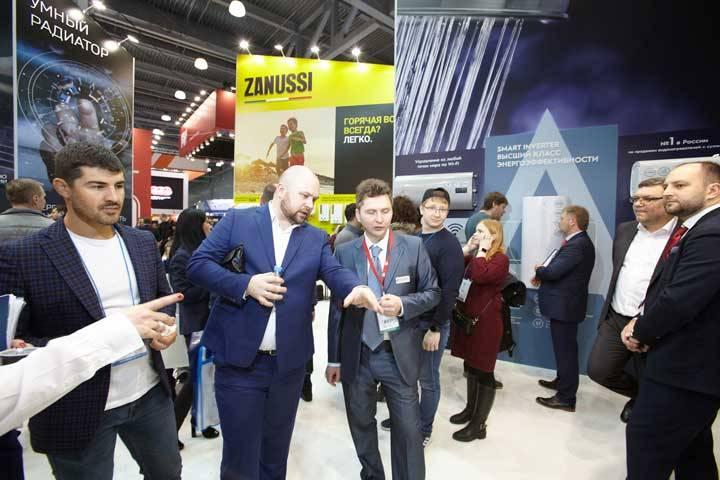 На стенде Русклимата выставка Акватерм Москва 2020.