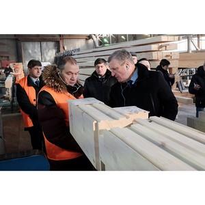 Губернатор Кировской области посетил предприятие по производству домов