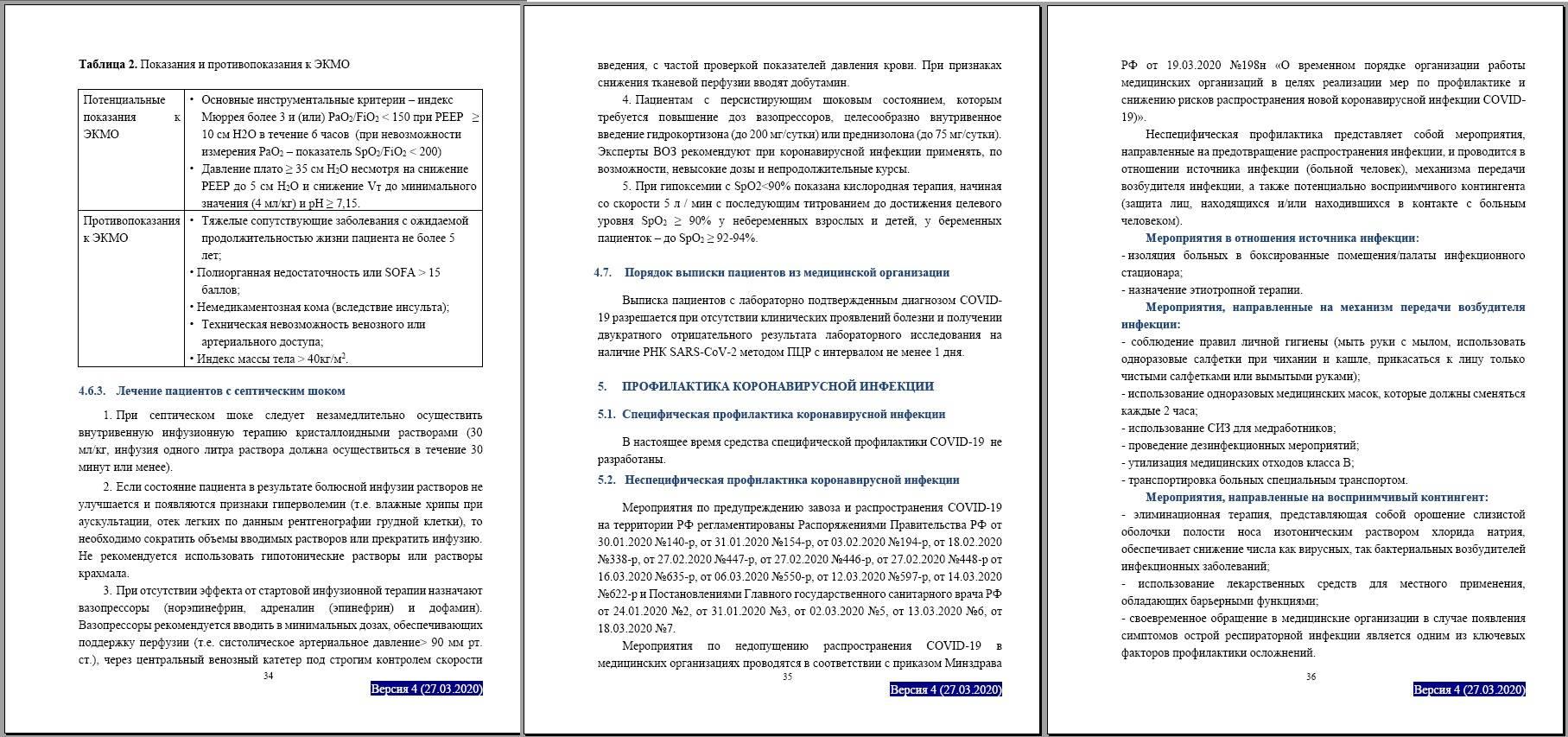 Минздрав России обновил рекомендации по лечению Covid-19