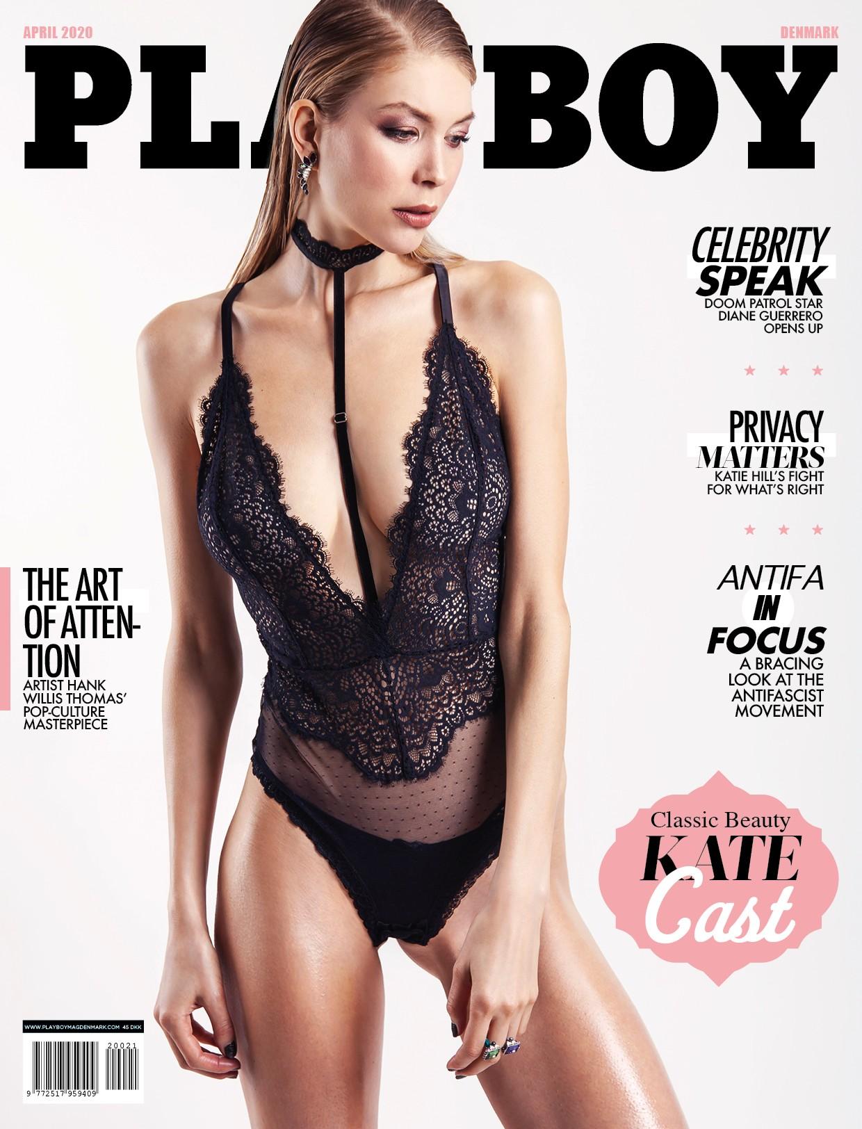 Kate Cast на обложке датского Playboy