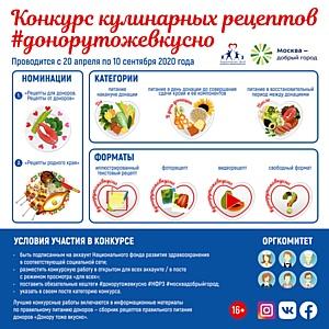 Продолжается конкурс кулинарных рецептов «Донору тоже вкусно»