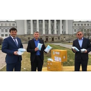 Корпорация «Евразия» передала УрФУ 4 тысячи медицинских масок